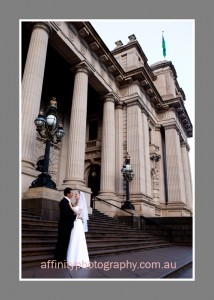 Parliament steps wedding - Affinity photography