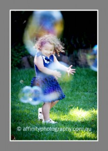 Portraits with bubbles